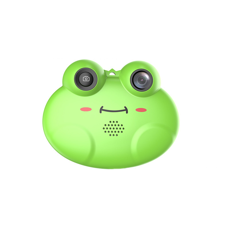 Child Camera Digital Camera Frog Camera Toy Fun With Lanyard Drop-Proof Cartoon Frog Child Camera