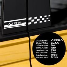 2 шт., наклейки на боковое окно Hyundai Accent Elantra Tucson Solaris Sonata Genesis Azera GDI i40 ix35
