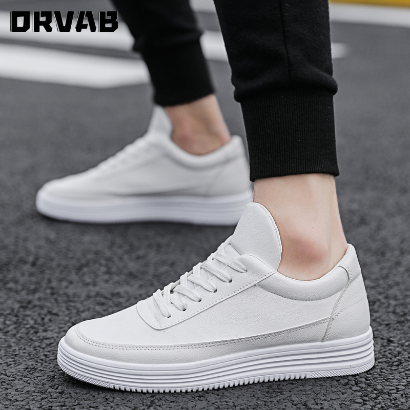 Men Loafers Leather Black White Sneakers Men Comfortable Breathable Men Casual Shoes Lightweight Summer Youth Male Footwear