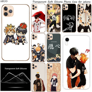 SOFT TPU Silicone Phone Case for iphone 11 11Pro XS Max X XR SE Anime Haikyuu Hinata Volleyball cases for 7 8 6s Plus 5S cover(China)