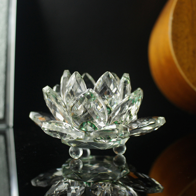 Fengshui K9 Crystal Lotus Flower Paperweight for Wedding Favor Home Decoration Holiday Gifts 5