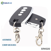 6 pièces 4 boutons Code roulant HCS301 télécommande universelle de porte de Garage travail avec récepteur de code ouvert avec hcs301 433mhz
