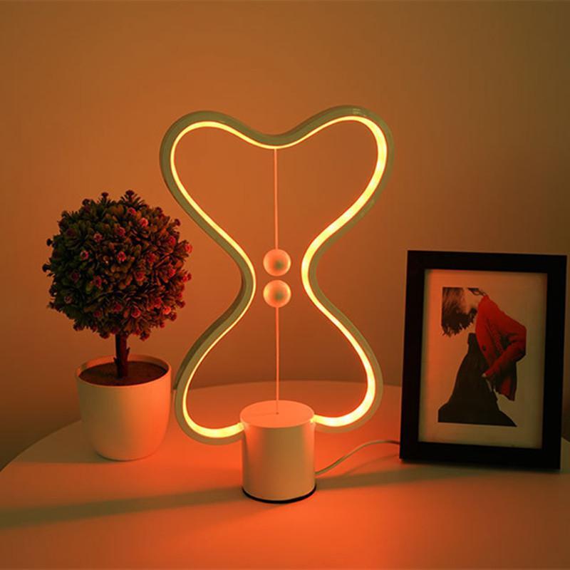 Купить с кэшбэком DishyKooker 7 Colors Change Balance Lamp Decor Bedroom Office Kids Table Light