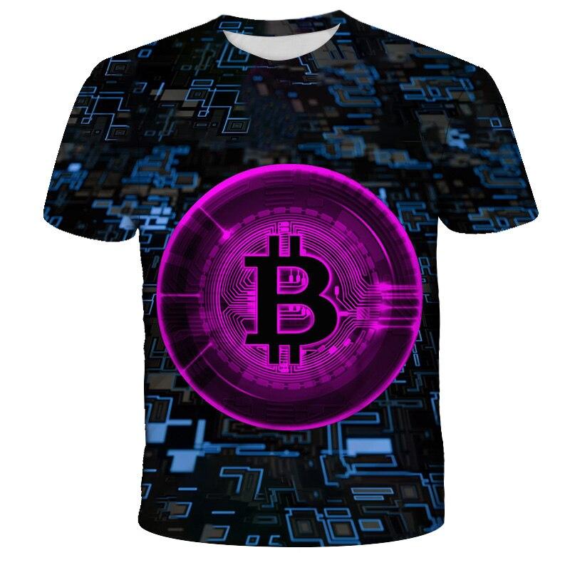 2021 kids t-shirt trend 3D printed t-shirts boys girls fashion short sleeve BTC tshirts Bitcoin Child t-shir DIY 4T-14T 2