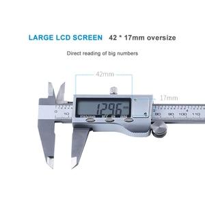 Image 5 - LCD dijital ekran elektronik paslanmaz çelik sürmeli kaliper 0 150mm mikrometre ölçme aracı cetvel ölçer
