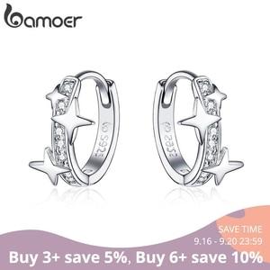 BAMOER Small Hoop Earrings 925