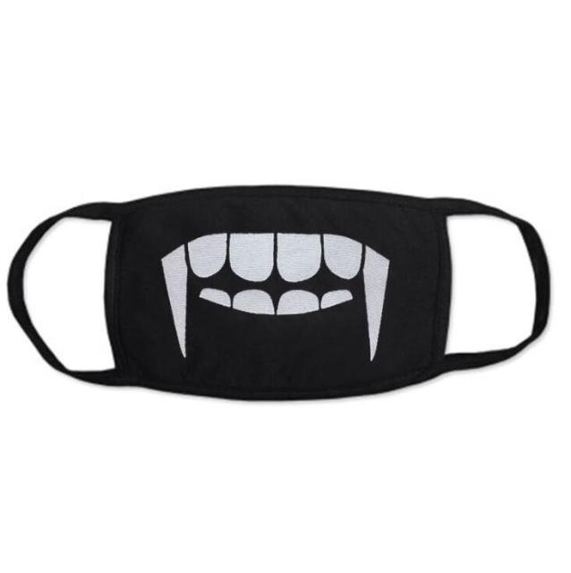Men Women Kpop Mask Winter Mask Cute Teeth Smile Bear Mask Party Cotton Cool Travel Mask Decorative Black Props 4