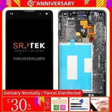 תצוגה מקורית עבור LG E975 תצוגת מסך מגע עם מסגרת Digitizer עבור LG Optimus G E975 LCD LS970 F180 E971 e973 נבדק