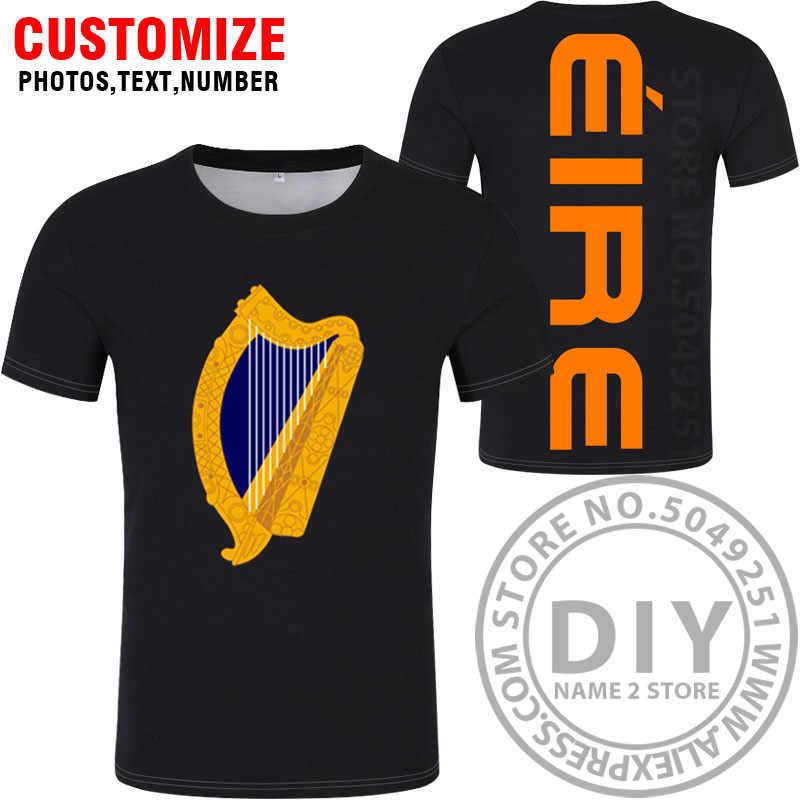 IRELAND Футболка с именем Irl, футболка с логотипом для фото, одежда с принтом «сделай сам», бесплатная доставка, футболки на заказ, респиратор 3D 4XL 5XL, большой размер 6XL