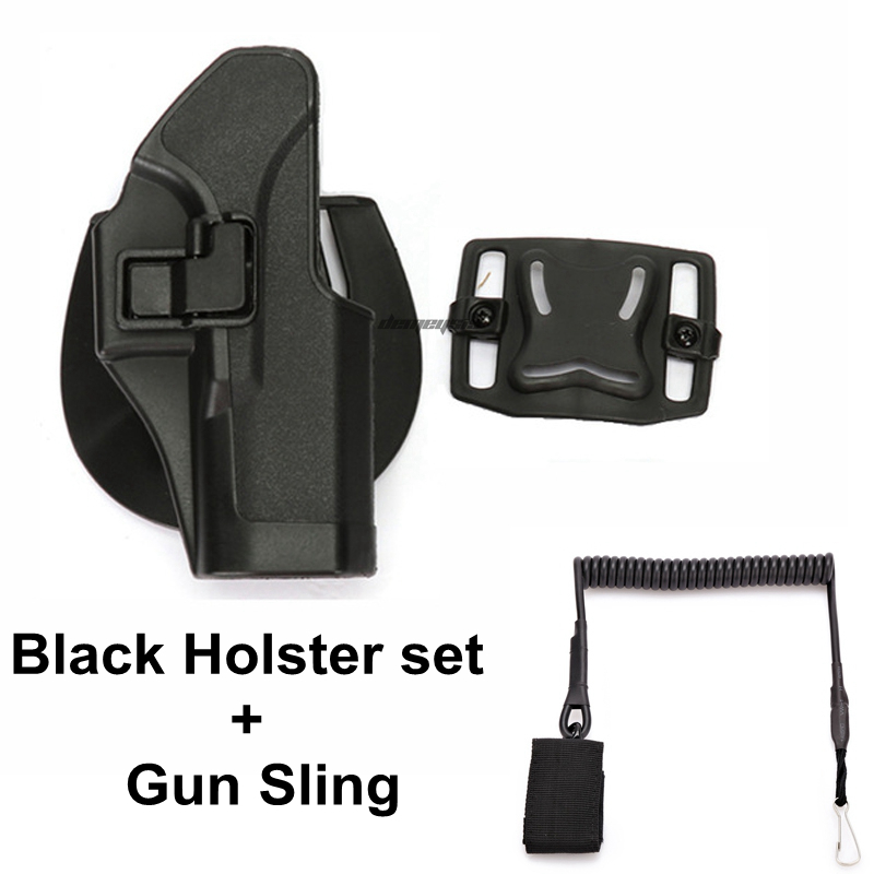 High Quality Glock Pistol Waist Holster Pouch Tactical Gun for 17 19 23 32 36 Pistola Case Accessories