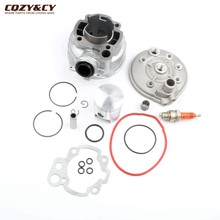 Motorcycle 90cc 49mm Big Bore Cylinder Kit & Cylinder Head for Minarelli RIEJU MRX 50 RR50 RS-1 -2 Spike 2 50cc 2 stroke(China)