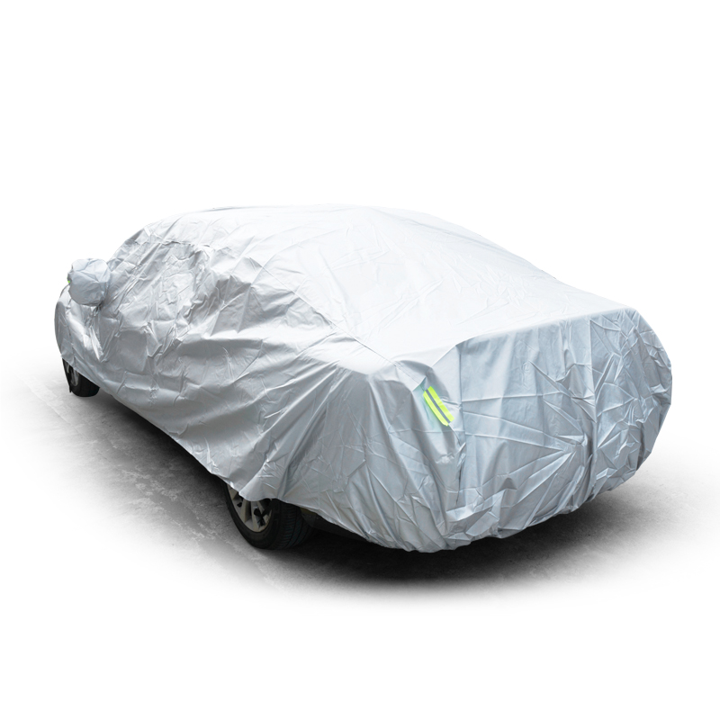 Image 5 - JIUWAN Universal SUV Car Covers Sun Dust UV Protection Outdoor Auto Full covers Umbrella Silver Reflective Stripe For SUV Sedan-in Car Covers from Automobiles & Motorcycles