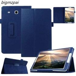 Модная Высококачественная подставка из искусственной кожи для Samsung Galaxy Tab E 9,6 T560 T561, чехол для планшета, защитный чехол + пленка + ручка