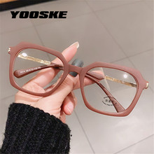 YOOSKE – lunettes anti-lumière bleue TR90 pour hommes et femmes, montures carrées en gelée, Protection contre les radiations, lentille d'ordinateur