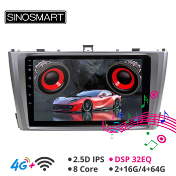Sinosmart Android 8.1 Car GPS Navigation Player Radio for Toyota Avensis 2009-2015 2.5D IPS/QLED Screen image