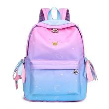 Korean Style Fashion Backpack Nylon Bag For Women Simple Youth Travel School Student Bags Teen Girl Schoolbag