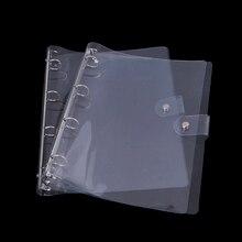 Transparent Color Plastic Clip File Folder A4 Notebook Loose School Office