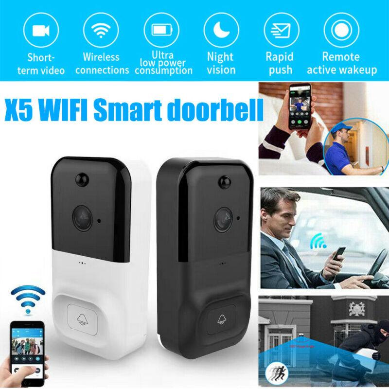 Wireless WiFi Video Doorbell Smartphone Door Ring Intercom Security Camera Night