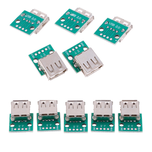 5pcs/Lot Type A Female USB To DIP 2.54mm PCB Connector USB PCB Board Connectors Wholesale