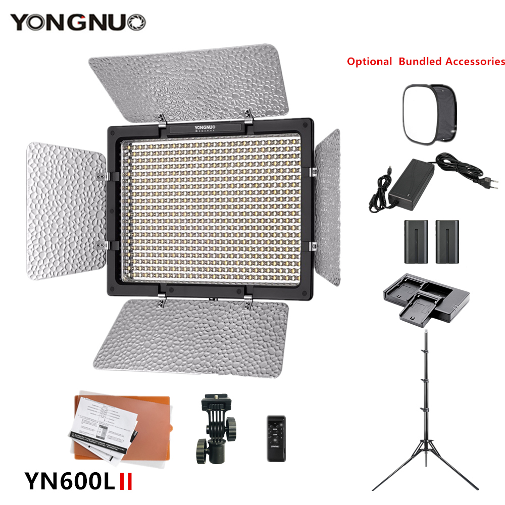 YONGNUO YN600L II Camera Photo Photography lamp 3200-5500k LED Video fill Light for makeup TikTok Optional with battery tripod