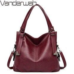 Bolsas femininas do vintage de couro macio ombro crossbody sacos para a mulher marca luxo tote bolsas senhoras sacos mão
