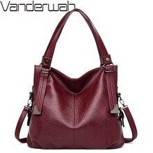 Vintage Women Handbags Female Soft Leather Shoulder Crossbody Bags for Woman Luxury Brand Tote Handbags Ladies Hand Bags Mochila