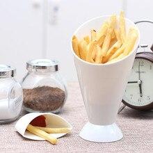 Чашка французский конус для картошки фри погружение домашняя кухня портативный многофункциональный инструмент для картофеля посуда 2 в 1 французский конус для картошки фри чаша для макания#45