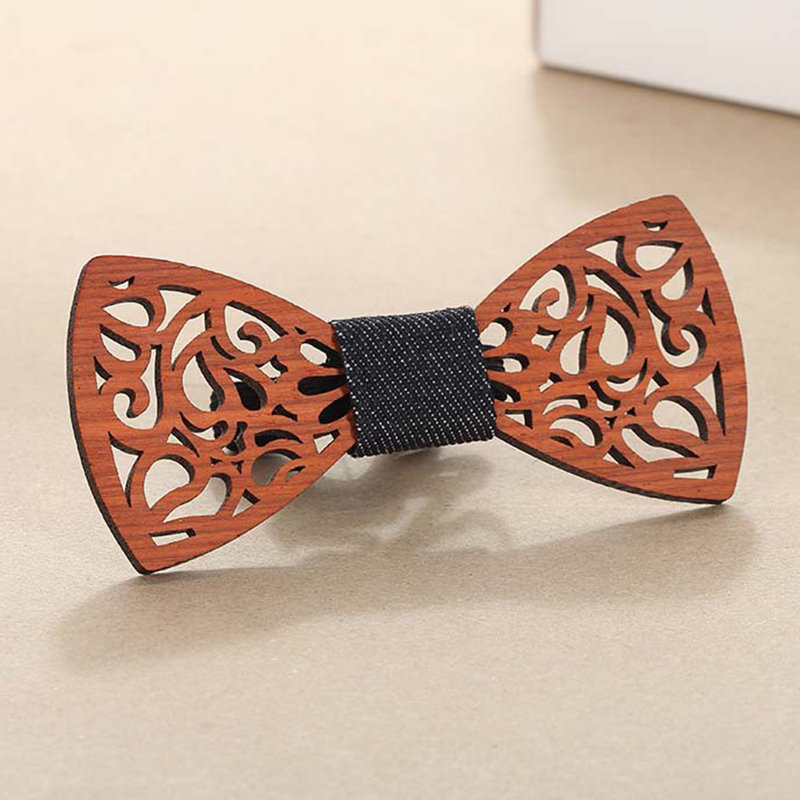 Wooden Bow Ties For Men Ties Wood Bowtie Business Butterfly Wedding Bow Tie Solid Vintage Men Retro Wood Neck Adjustable Male