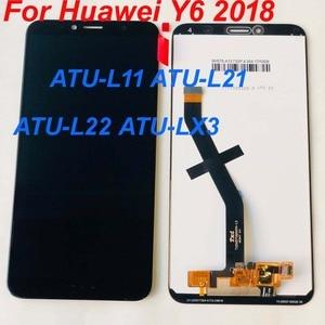 Image 5 - Original 5.7 For Huawei Y6 2018 Y6 Prime 2018 ATU LX1 / ATU L21 ATU L31 LCD Display +Touch Screen Digitizer Assembly +frame