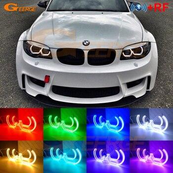 RF remote Bluetooth APP DTM M4 Style Multi-Color RGB LED Angel Eyes For BMW 1 Series E82 E88 E87 E81 2006-2013 Xenon headlight