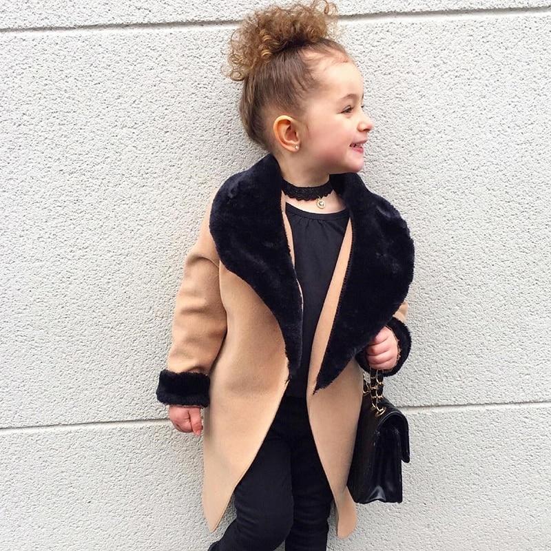 Kids Coat 2021 Autumn Baby Girls Long Sleeve Leopard Fur Windproof Infant Boys Clothes Girl Warm Pocket Fashion Outwear Jacket 3