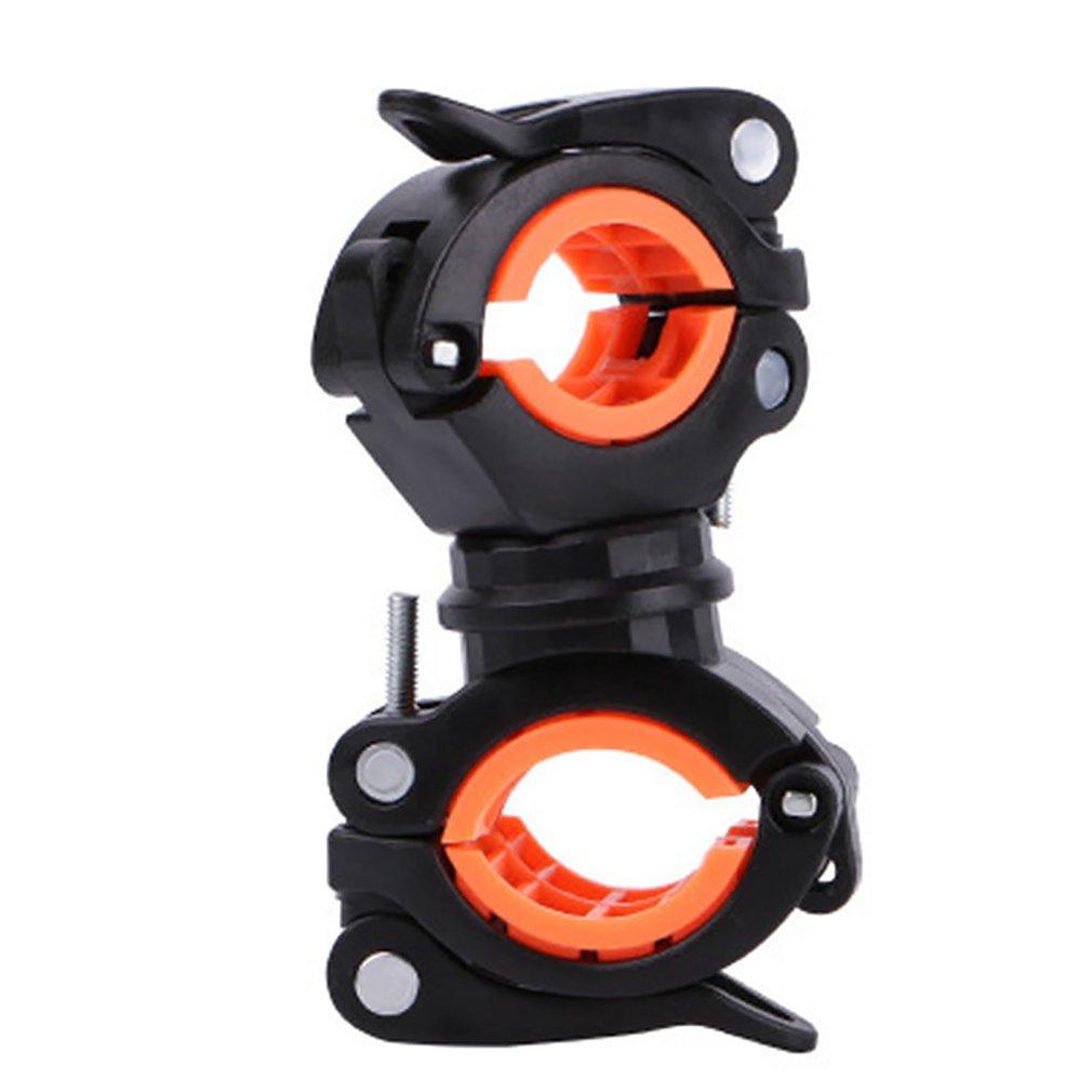 Вращающийся велосипедный светильник, держатель, Универсальный MTB дорожный велосипед, флэш-светильник, крепление на зажиме, двойной держате...