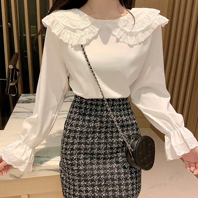Women Blouses Long Sleeve White Shirt Ladies Casual Sweet Blouse Shirt Chemise Top Autumn Blusas Femininas W1