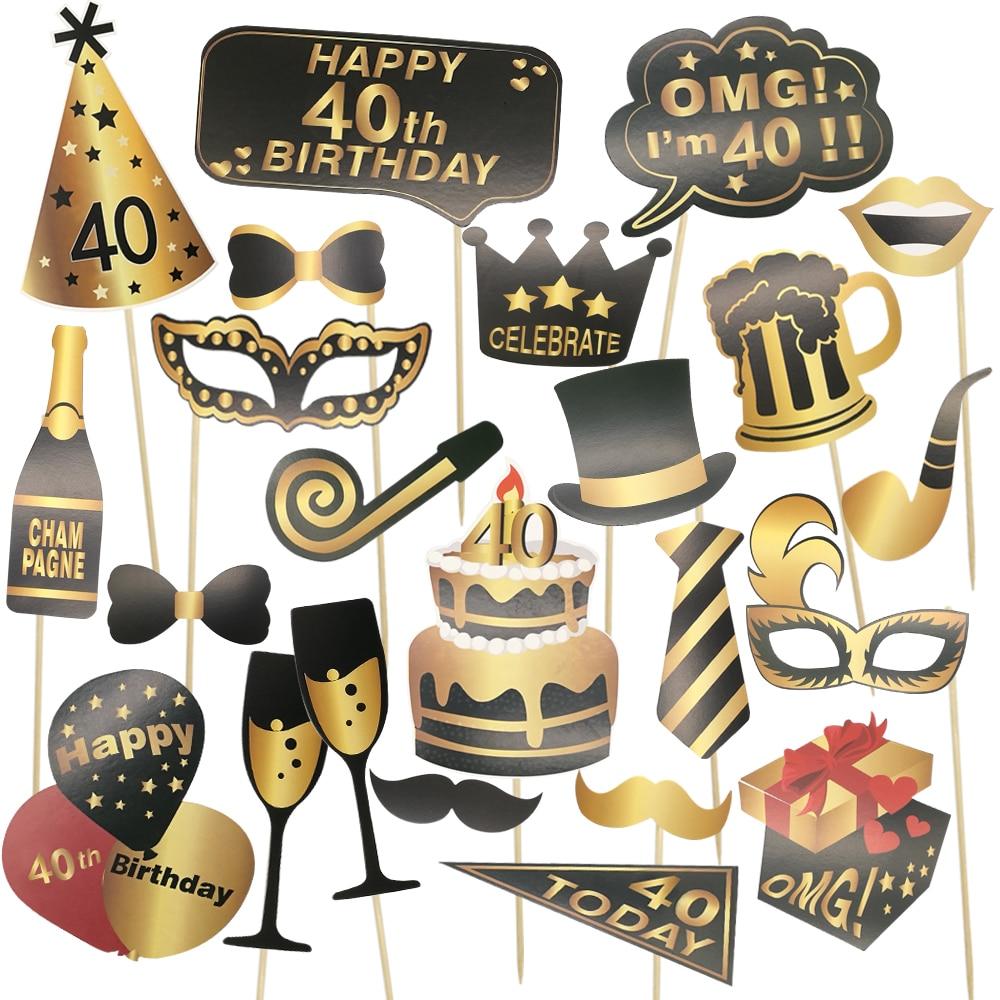 Chicinlife 1 conjunto feliz 30th 40th 50th 60th aniversário photo booth adereços festa de aniversário adulto photobooth adereços decoração de aniversário