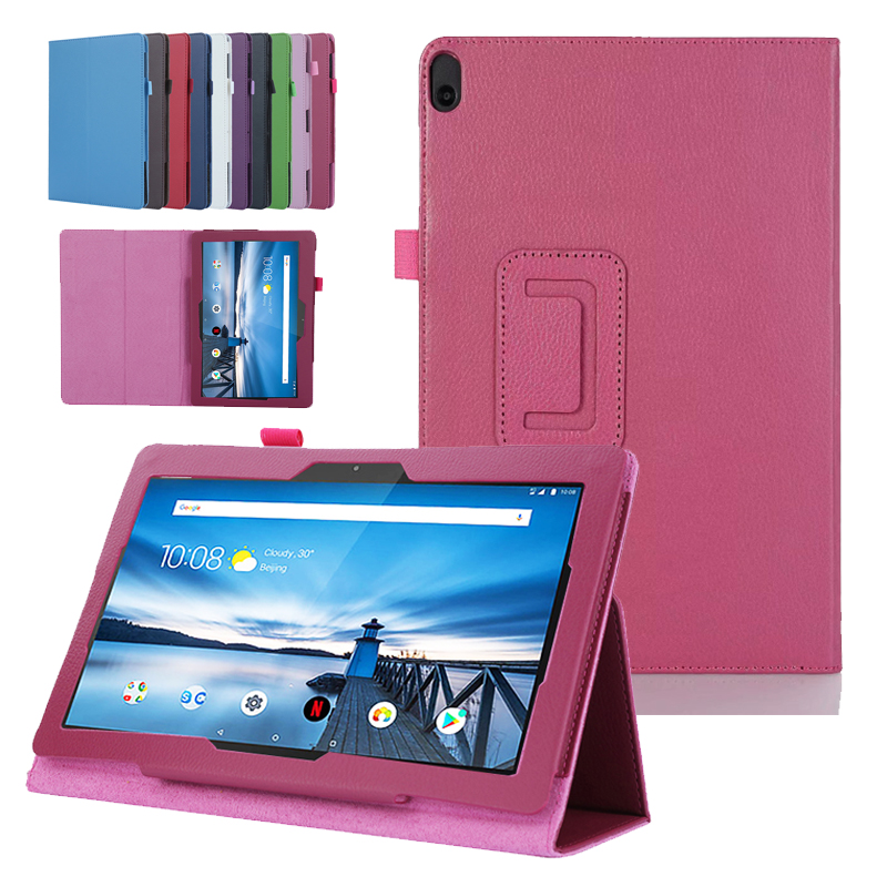 Folio PU Leather Flip Stand Protective Case Cover Skin For 10.1'' <font><b>Lenovo</b></font> Tab M10 TB-X605F X505F X605L P10 TB-<font><b>X705F</b></font>/L Tablet PC image
