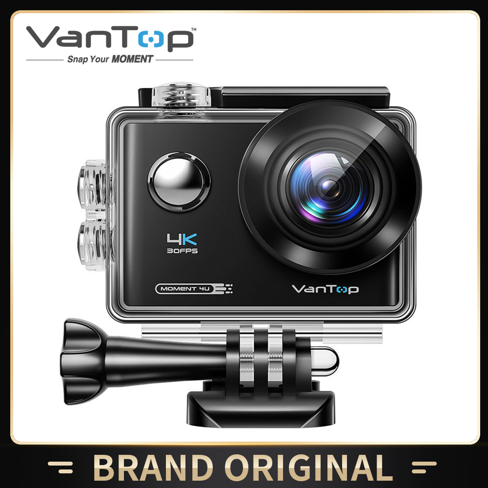 VanTop Moment 4U 4K Action Camera 20MP  Underwater Waterproof Camera with Wifi Touch Screen Wireless Remote 170° Wide Angle Cam-0