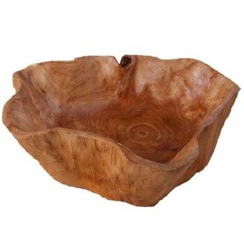 Бытовая чаша для фруктов, деревянная тарелка для конфет, тарелка для фруктов, тарелка для фруктов с резьбой по дереву, 20-24 см