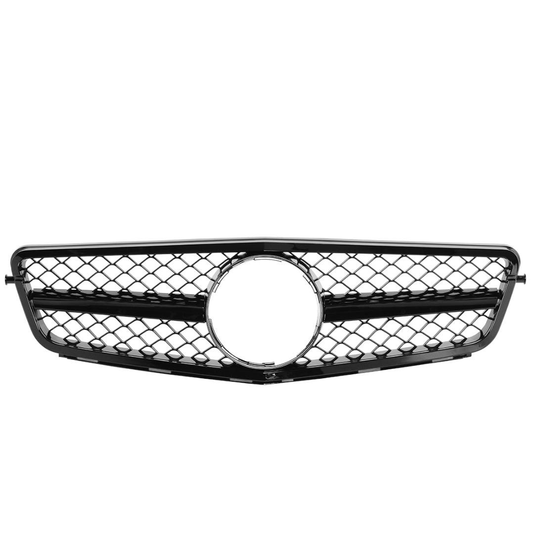 Front Bumper Grille Grill For Mercedes C Class C204 2011-2015/S204 2007-2014/W204 2007-2014 Matte Black Without Centre Logo