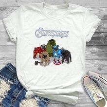 Мультяшная женская футболка с графическим рисунком футболки