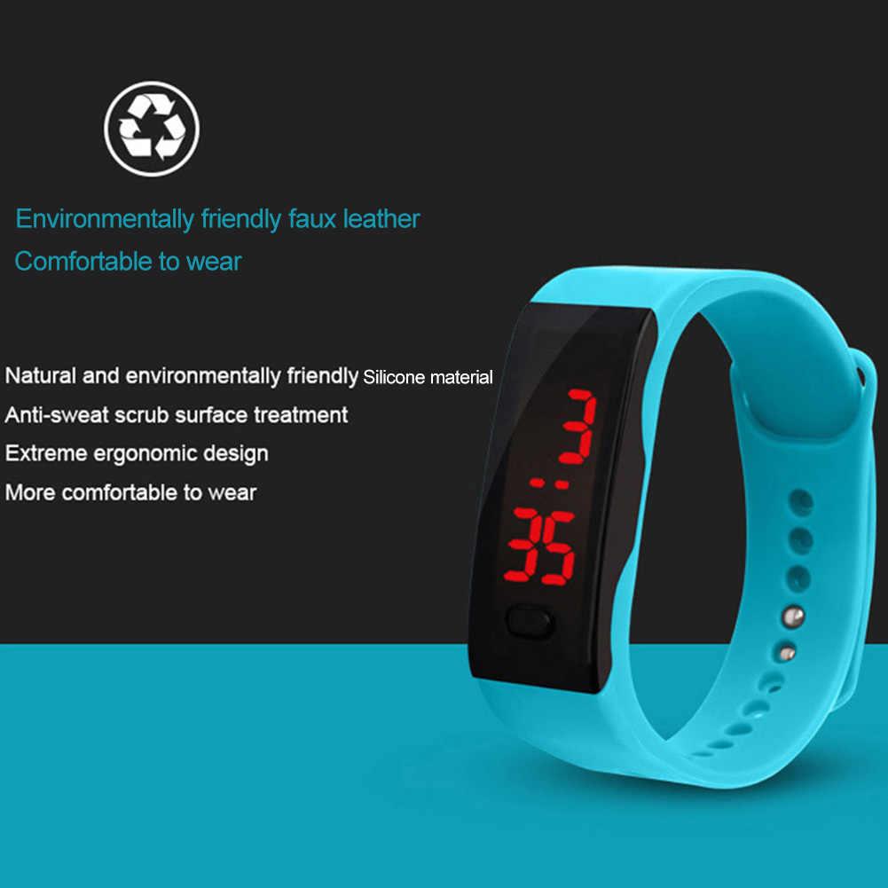 子供シリコーン Led ディスプレイ電子デジタルスポーツブレスレット腕時計新シックな