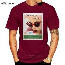 Camiseta casual do verão dos homens do cartaz do filme de lolita 6060s