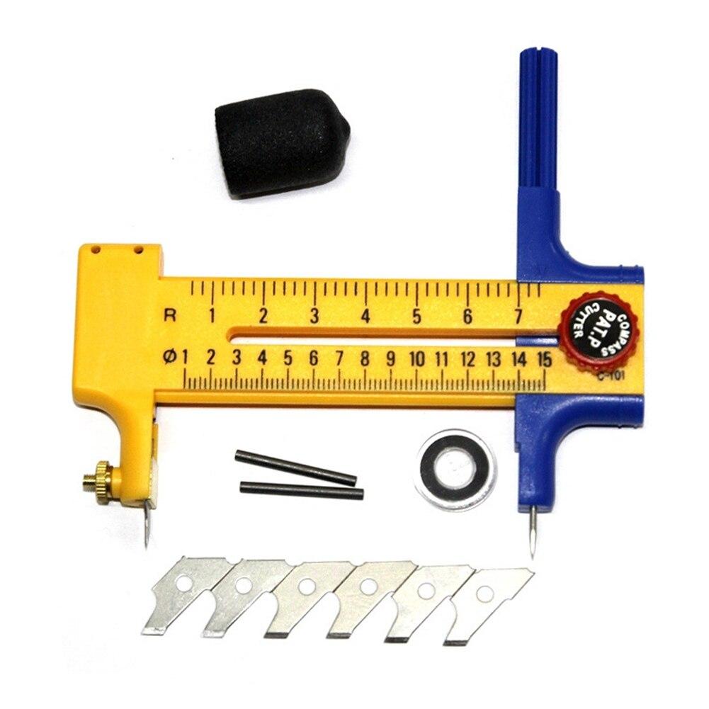 Compass Circle Cutter Circular Cutting Tool Adjustable Compass Circle Cutter Dia 10mm-150mm Art Craft Tool