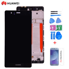 Tela LCD touch screen digitizer assembly com moldura, 5.2