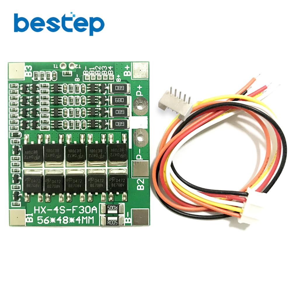 4S 30A 14.8V Li-ion Lithium 18650 Battery BMS Packs PCB Protection Board Balance Integrated Circuits Electronic Module
