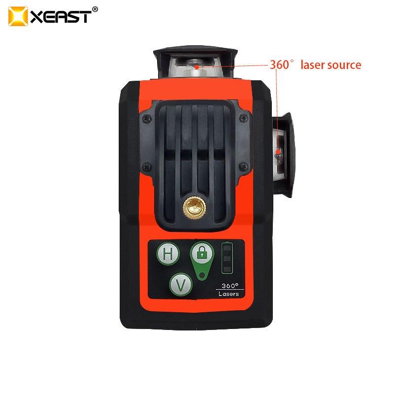 XEAST 2019 heißer verkauf XE-62G hohe präzision grünen strahl 12 linie 3D laser ebene automatische automatische nivellierung 360 vertikale und horizo