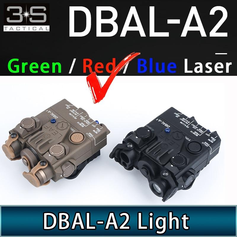Tactical Airsoft Flashlight DBAL A2 Red Laser IR Laser White Light With Strobe Version Weapon surefir DBAL-A2 Light