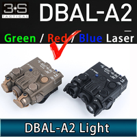 Tactical Airsoft Weapon Flashlight DBAL A2 Red Laser IR Laser White Light Strobe Version DBAL-A2 Scout Light For 20mm Rail