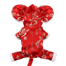 Jumpsuit Pet-Outfit Festival Funny Puppy-Clothing Tang-Suit Small Spring Dog-Apparel
