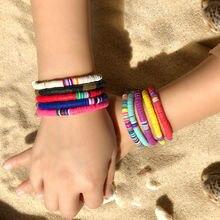 Новый пляжный богемный милый цветной мягкий керамический браслет