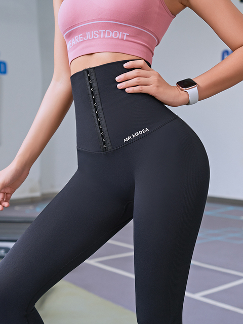 2020 Yoga Pants Stretchy Sports Best Black Leggings High Waist Compression Tights  Push Up Running Women Gym Fitness Leggings 3